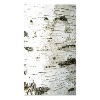 Birch trunk business card
