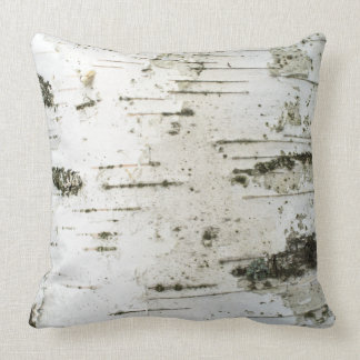 Birch trunk throw pillow
