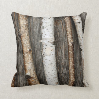 Birch trunks throw pillow
