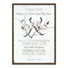 Birch Wood Deer Wedding 5x7 Paper Invitation Card