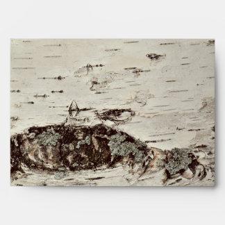Birch Wood Rustic Wedding Envelope