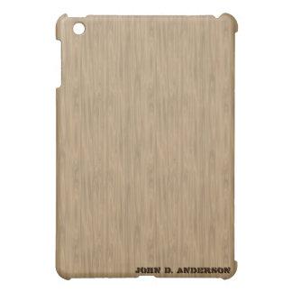 Birch wooden look, add name custom iPad mini case