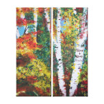 """""""Birch Woods in Autumn"""" canvas Gallery Wrapped Canvas"""