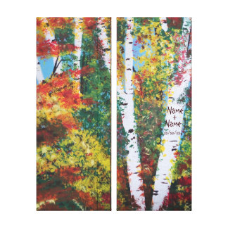 """""""Birch Woods in Autumn"""" canvas"""