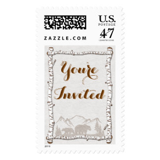 Birch Woods Rustic Collection  Postage