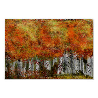 BIRCHES ALL IN A ROW POSTER