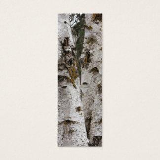 Birches bookmark mini business card