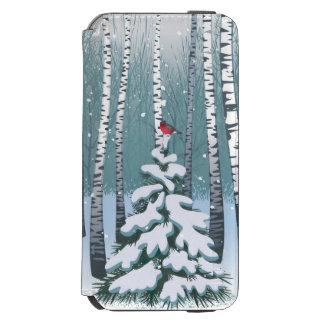 Birches In The Winter Forest iPhone 6/6s Wallet Case