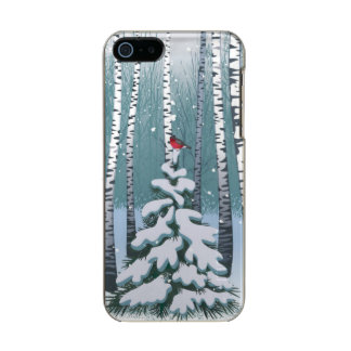 Birches In The Winter Forest Metallic Phone Case For iPhone SE/5/5s