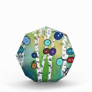 Birches Landscape Art Image Acrylic Award