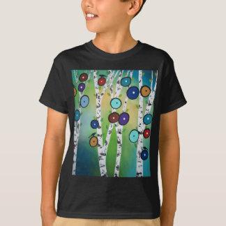 Birches Landscape Art Image T-Shirt