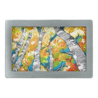 Birches Rectangular Belt Buckle