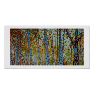 BIRCHES small Poster