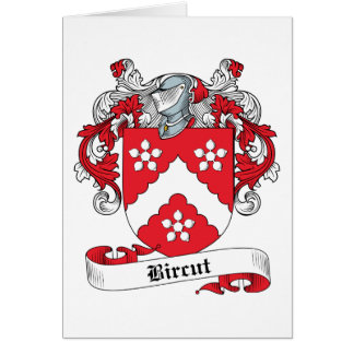 Bircut Family Crest Greeting Card