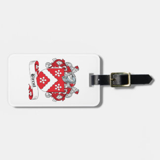 Bircut Family Crest Luggage Tags
