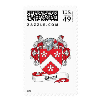 Bircut Family Crest Postage Stamp