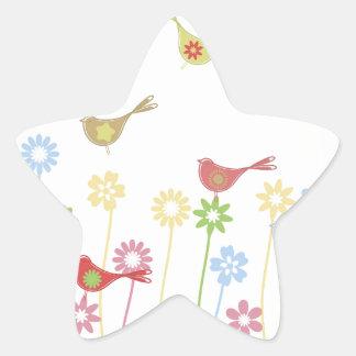 bird3 pegatina en forma de estrella