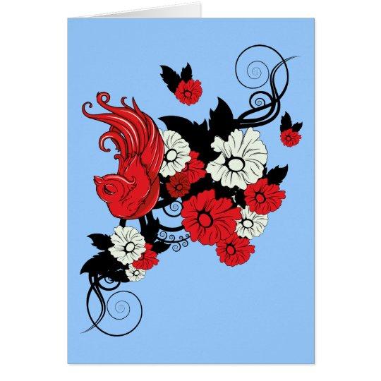 Bird 2 ~ Flowers Customize Gift Template