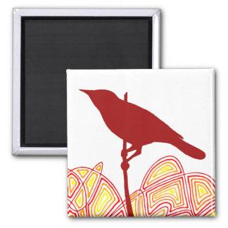 Bird 2 Inch Square Magnet
