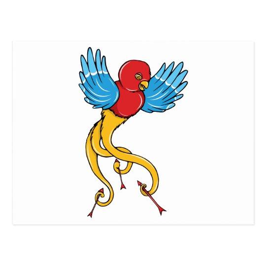 Bird 3 ~ Vintage Forties Tattoo Bird Art Postcard