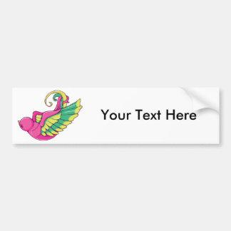 Bird 4 ~ Vintage Forties Tattoo Bird Art Car Bumper Sticker