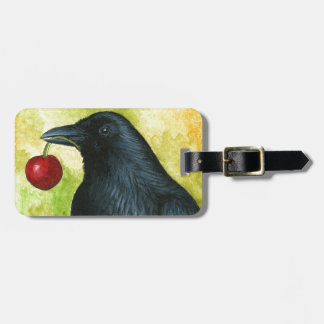 Bird 55 crow raven bag tag