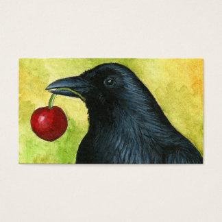 Bird 55 crow raven business card