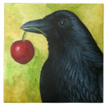 Bird 55 crow raven ceramic tile