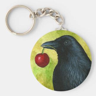 Bird 55 crow raven keychain