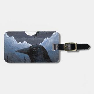 Bird 58 Crow Raven Bag Tag