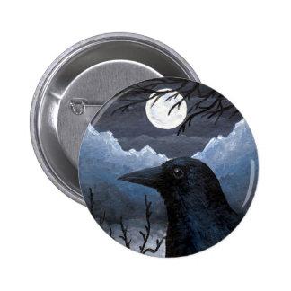 Bird 58 Crow Raven Button