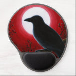 "Bird 62 Crow Raven Gel Mouse Pad<br><div class=""desc"">This is an image from one of my original paintings.</div>"