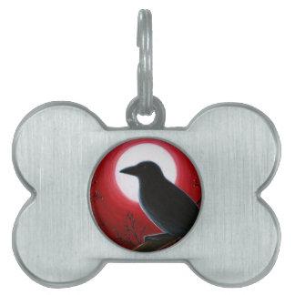 Bird 62 Crow Raven Pet Name Tag
