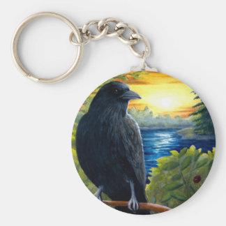 Bird 63 crow keychain