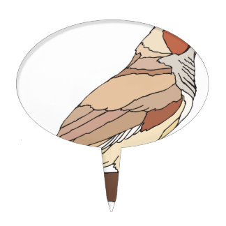 bird #7 cake topper