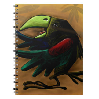bird-9870-tropical-exotic-funny-parrot-macaw spiral notebook
