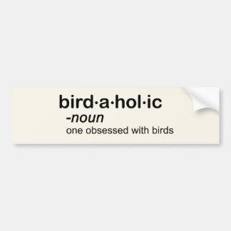 bird a hol ic car bumper sticker