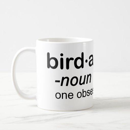 bird a hol ic coffee mug