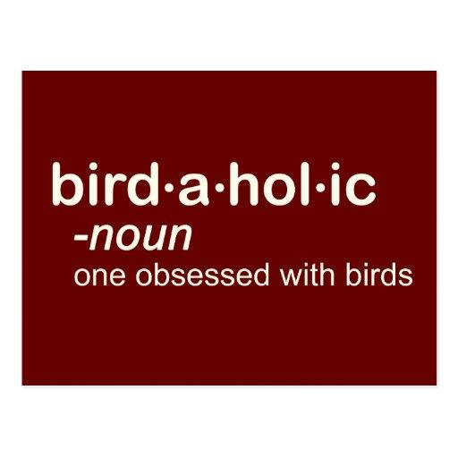 bird a hol ic post card