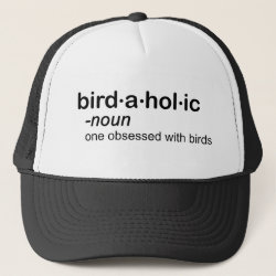 Trucker Hat with Birdaholic Definition design