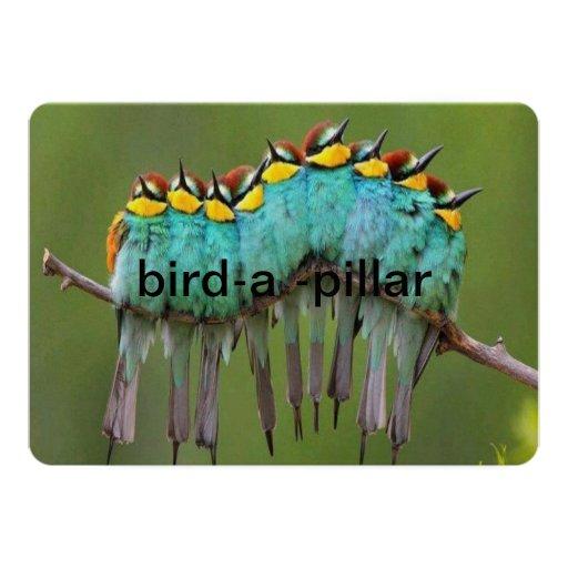 bird-a- pillar invatation card
