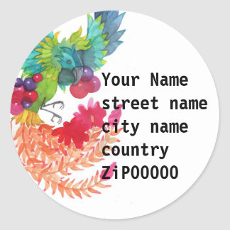 Bird Address Label Round Sticker