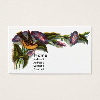Bird Amid Morning Glories Victorian Business Card