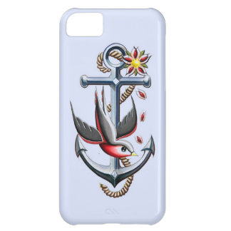 Bird and Anchor Tattoo Art Case For iPhone 5C