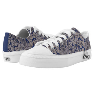 Bird and Anemone by William Morris, Vintage Nature Low-Top Sneakers