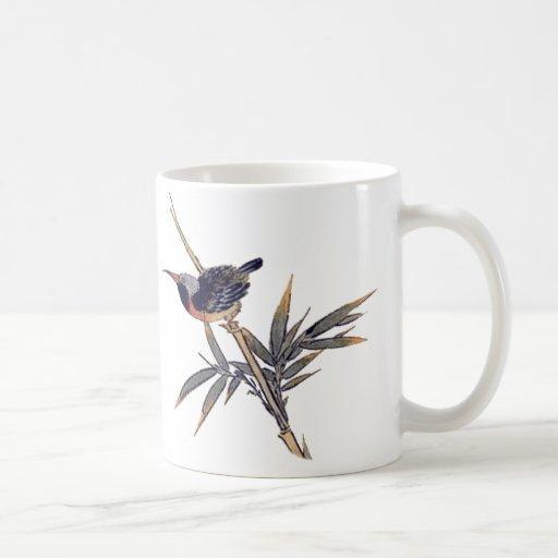 bird and bamboo 2 coffee mugs