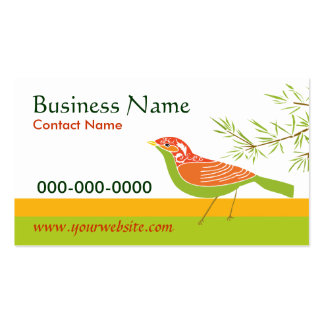 Bird and Bamboo Business Card