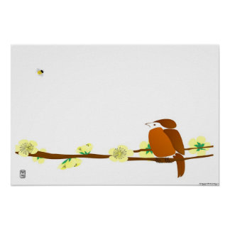 Bird and Bee Print