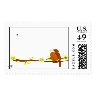 Bird and Bee - Stamp