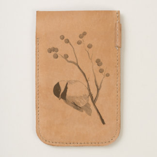 Bird and Berries iPhone Leather Pouch